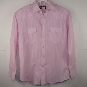 Wrangler Pink Long Sleeve Pearl Style Snaps